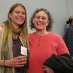 Artist Alix Knipe with Michele McCurdy
